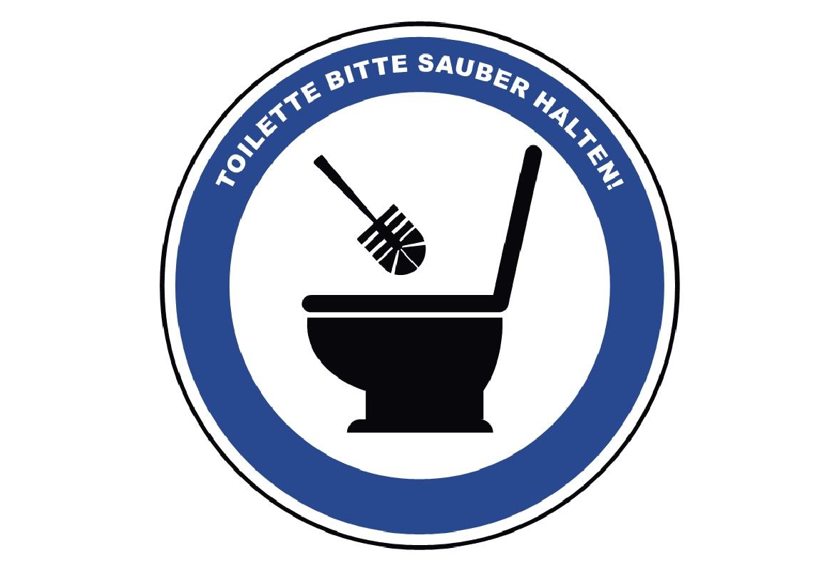 115 Toilette Sauber Halten Schild